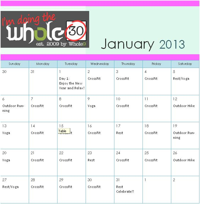 photo relating to Whole 30 Calendar Printable identify System Harmony.